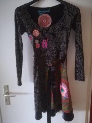 Desigual Vestito di lana multicolore