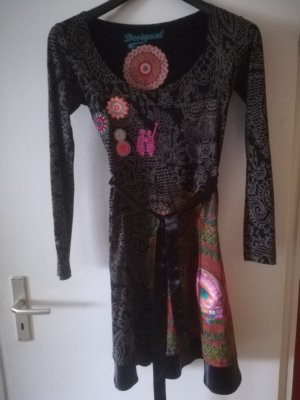 Desigual Robe en laine multicolore