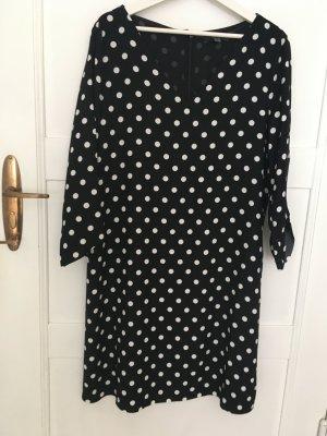 Esprit Szyfonowa sukienka czarny-biały Poliester