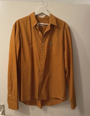 Lacoste Long Sleeve Shirt sand brown-gold orange