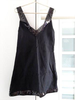 Długi top czarny Bawełna