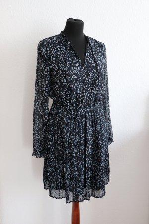 Neuwertiges Midi Kleid von Reserved Größe S 36 38 Plissee Leo Leopard