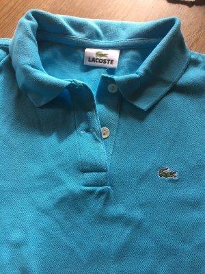 Neuwertiges Polo Shirt von LACOSTE, Krokodil, türkis, Gr. 36, NP: EUR 100