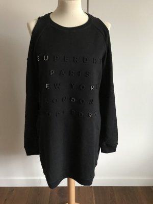 Superdry Sukienka dresowa czarny-srebrny