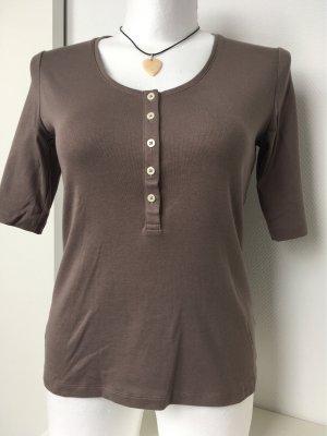 Lands' End T-shirt marrone-grigio-marrone chiaro