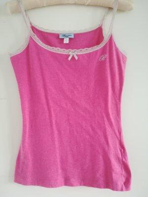 Blumarine Top di merletto rosa