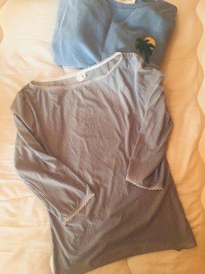 Neuwertiges Streifenshirt von Intimissimi, babyblau