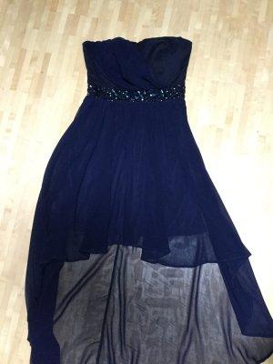 Neuwertiges Vokuhila Kleid in blau, Gr. M