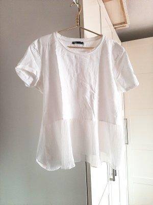 Neuwertiges weisses T-Shirt von Zara, Gr. L