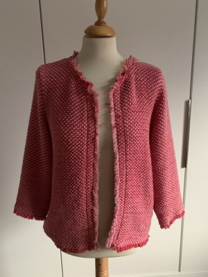 Kontatto Giacca di lana rosso lampone-rosa pallido