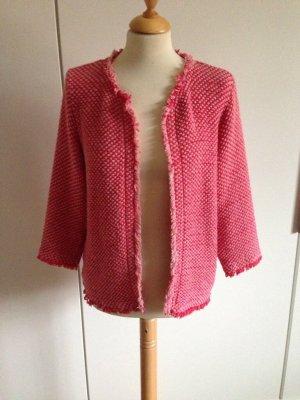 Kontatto Cardigan rosso lampone-rosa pallido