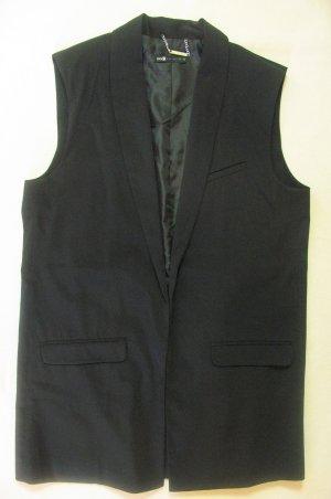 Neuwertiges, wunderschönes und edles Long-Gilet von OODJI Collection in schwarz, Größe DE 42
