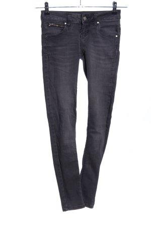 Never Denim Skinny Jeans schwarz Casual-Look