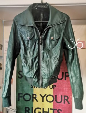 Faux Leather Jacket dark green-forest green