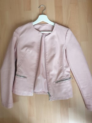 new baby pink leather jacket