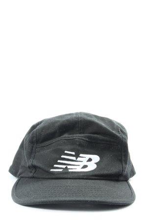 New Balance Gorra de béisbol negro-blanco letras bordadas look casual