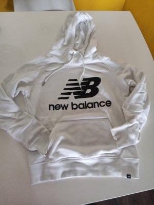 New Balance Maglione con cappuccio bianco-blu scuro