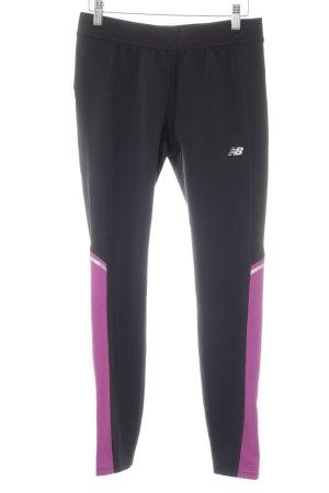 New Balance Leggings schwarz-violett sportlicher Stil