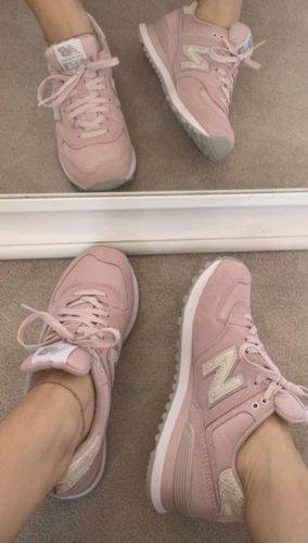 New Balance NB 574 Sneaker rosa pink Vintage