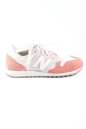 New Balance Schnürsneaker weiß-pink Casual-Look