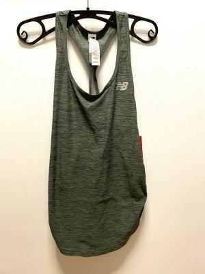 New Balance Maglietta sport grigio-verde-cachi