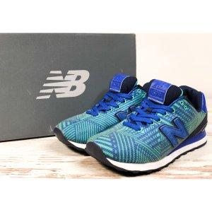 NEW BALANCE Sneaker WL574 Gr. 40 UK 6,5 US 8,5 blau Sportschuhe Turnschuhe