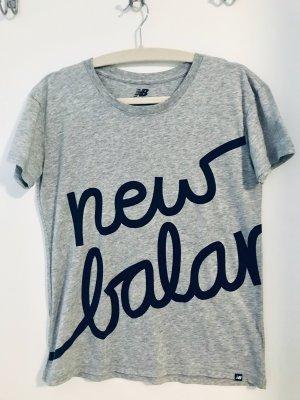 New Balance Maglietta sport argento-nero Cotone