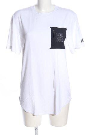 New Balance T-Shirt weiß-schwarz Schriftzug gedruckt Casual-Look