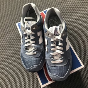 New Balance Lace-Up Sneaker steel blue leather