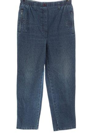 New Beauty Jeans baggy bleu motif rayé style décontracté