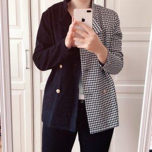 SheIn Blazer Tweed negro-blanco