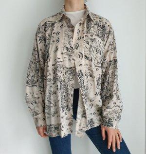 new classig clothing schwarz beige Hemd True vintage Bluse oversize pulli pullover top Shirt
