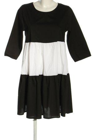 new collection Blusenkleid schwarz-weiß Streifenmuster Casual-Look