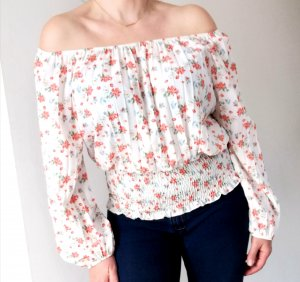 new collection Carmen Blouse natural white-red