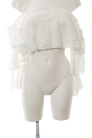 new collection Carmen-Bluse weiß schlichter Stil