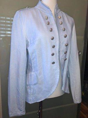 New Collection Jacke in gr XL Farbe Hell Blau mit Silbernen Knopfen veredellt und Krone aus Strass