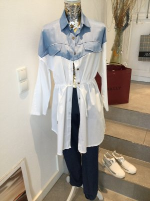 new collection Blouse Jacket azure-white