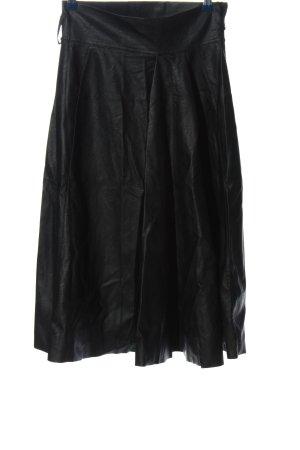new collection Rok van imitatieleder zwart casual uitstraling