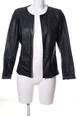 new collection Lederweste schwarz Casual-Look