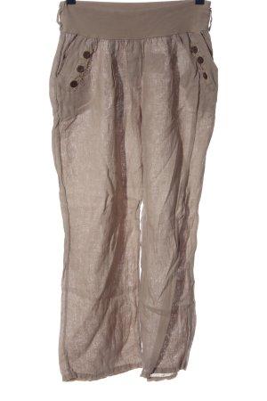new collection Lniane spodnie kremowy Melanżowy W stylu casual