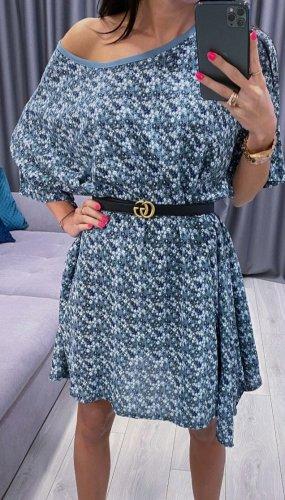 New Collection Oversize Kleid Blusenkleid top Zustand blau gr. M Hemdkleid