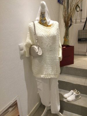 new collection Crochet Sweater natural white