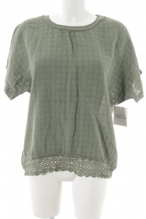 new collection T-Shirt graugrün Karomuster schlichter Stil