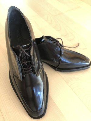 COS Zapatos estilo Oxford marrón oscuro Cuero