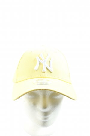 New Era Gorra de béisbol amarillo pálido-blanco look casual