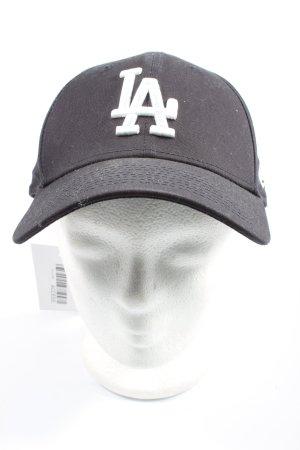 New Era Casquette de baseball noir-blanc lettrage brodé style décontracté