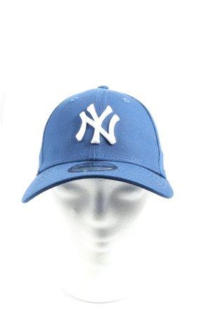 New Era Basecap blau Schriftzug gestickt Casual-Look