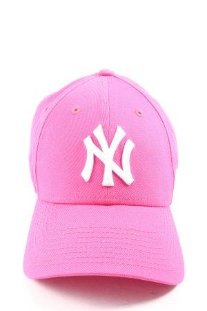 New Era Gorra de béisbol rosa letras bordadas look casual
