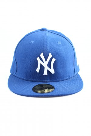 New Era Gorra de béisbol azul-blanco look casual