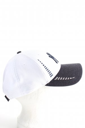 New Era Berretto da baseball bianco-nero caratteri ricamati stile casual